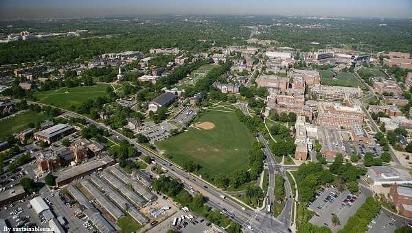 Đại học Maryland - College Park từ trên cao
