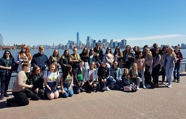 Học sinh của trường trong một buổi dã ngoại tại New York
