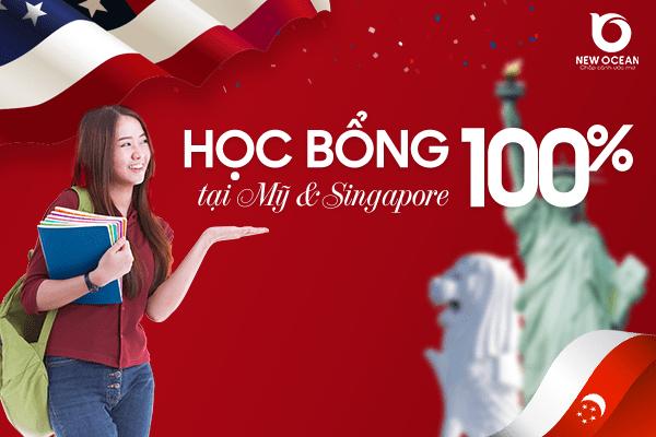 Học bổng 100% từ Mỹ và Singapore