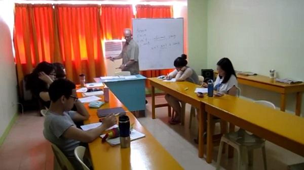 Một buổi lớp học bên trong trường