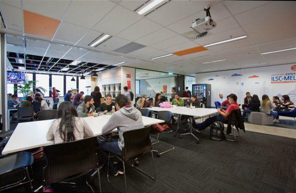 Phòng chờ sinh viên tại ILSC College