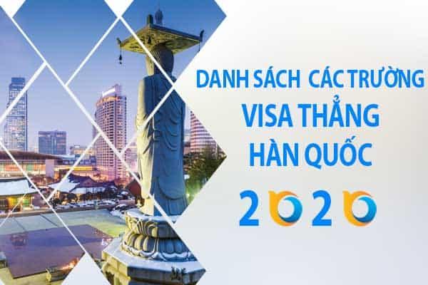 Nóng: Đã có danh sách các trường Visa thẳng Hàn Quốc 2020