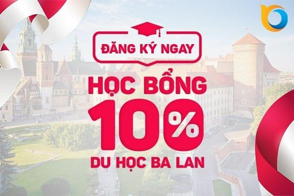 Học bổng toàn phần khi du học Ba Lan 2019
