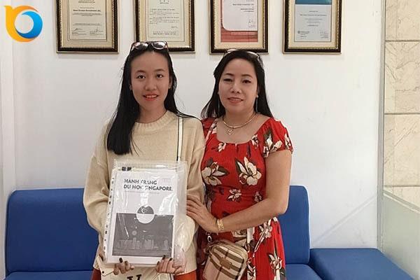 Trần Nguyễn Anh Thư nhận Visa du học Singapore trường SDH