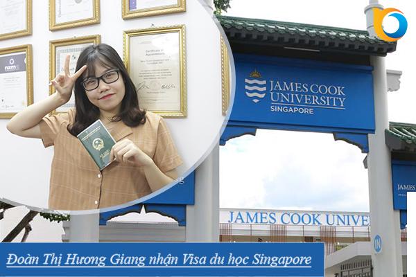 Visa du học Singapore bạn Đoàn Thị Hương Giang