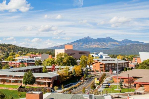 Trường Đại học Nothern Azirona University nhìn từ trên cao