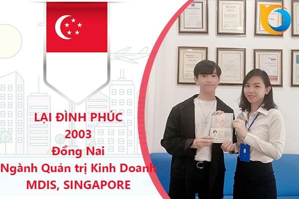 Lại Đình Phúc du học Thông minh trường MDIS, Singapore