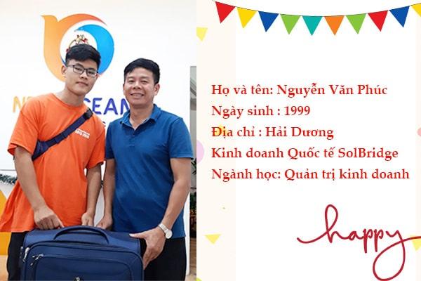 Nguyễn Văn Phúc nhận Visa du học Hàn Quốc cùng với bố mình