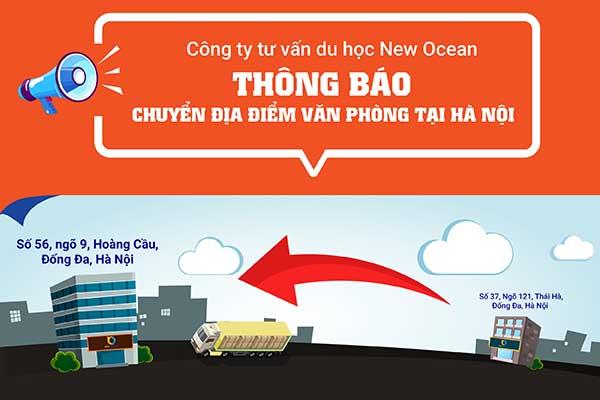 New Ocean chuyển địa điểm văn phòng tại Hà Nội kể từ ngày 20/09/2019
