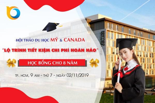 Hội thảo du học Mỹ - Canada tại TP. HCM