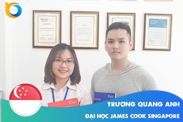 Trương Quang Anh nhận Visa du học từ chuyên viên New Ocean