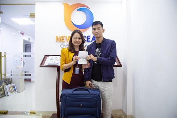 Đào Xuân Tấn nhận Visa du học Hàn Quốc