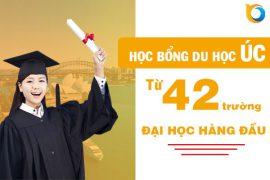 Học bổng du học Úc từ 42 trường Đại học hàng đầu