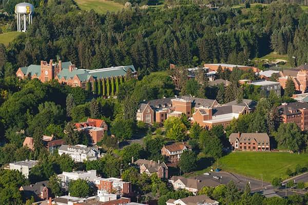 Trường Idaho nhìn từ trên cao