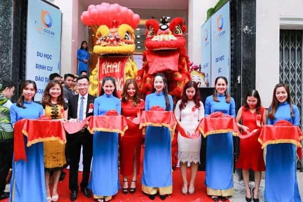 Lễ khai trương văn phòng du học New Ocean chi nhánh TP. Hồ Chí Minh