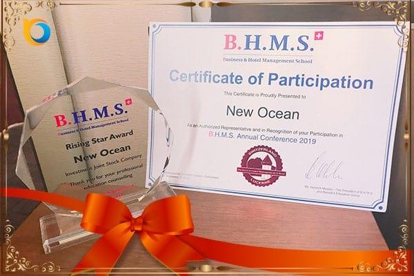 New Ocean vinh dự là một trong những đại diện tuyển sinh tiêu biểu năm 2019 của trường BHMS