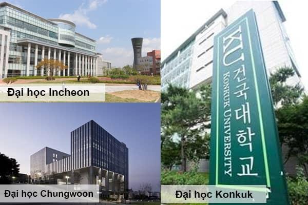 Các trường Đại học mà các bạn học sinh lựa chọn