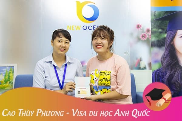 Cao Thùy Phương nhận Visa du học Anh Quốc
