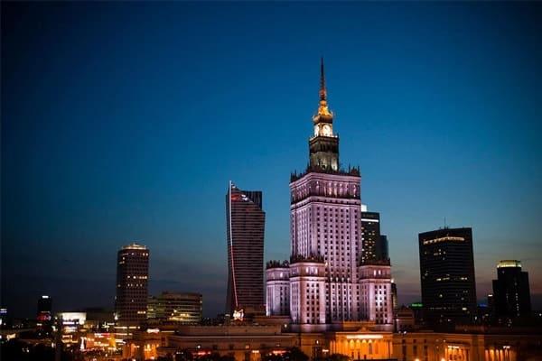 Cung Văn hóa và Khoa học tại thủ đô Warsaw
