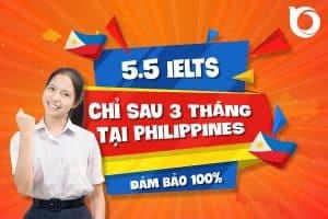 Đột phá 5.5 IELTS chỉ sau 3 tháng tại Philippines
