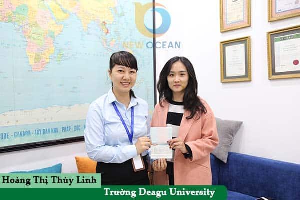Hoàng Thị Thùy Linh nhận Visa du học Hàn Quốc