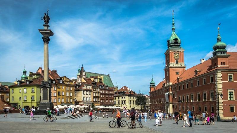 Một góc lâu đài hoàng gia tại thủ đô Warsaw
