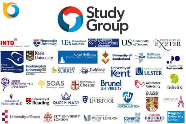 Tập đoàn giáo dục Study Group UK là tập đoàn giáo dục uy tín, đối tác với nhiều trường Đại học danh tiếng