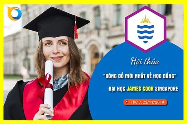 Học bổng 100% James Cook Singapore 2020