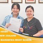 Trần Ái Nhân cùng mẹ nhận Visa du học New Zealand