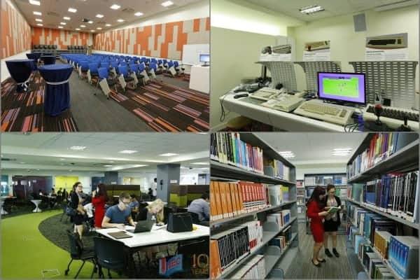 Cơ sở vật chất của trường Học viện quốc tế Amity Singapore