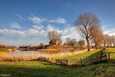 Quang cảnh đồng quê như tranh vẽ của Hà Lan