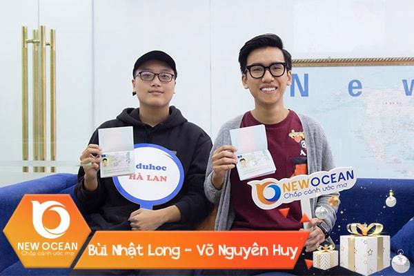 Visa du học Hà Lan Võ Nhật Long - Bùi Nguyên Huy