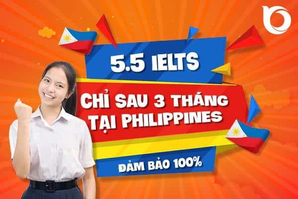 Đột phá 5.5 IELTS chỉ sau 3 tháng học tại Philippines