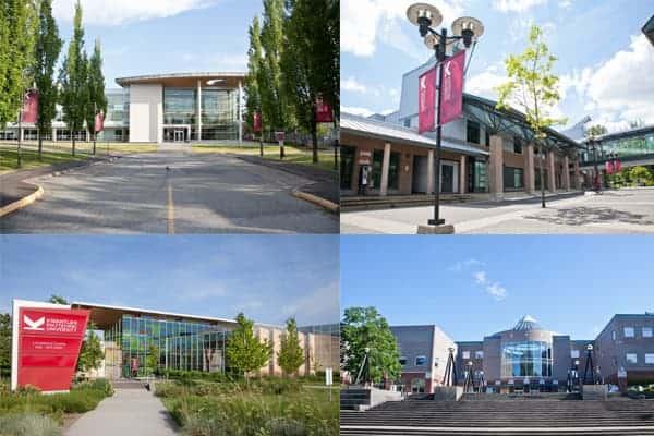 Trường với nhiều khuôn viên rộng lớn