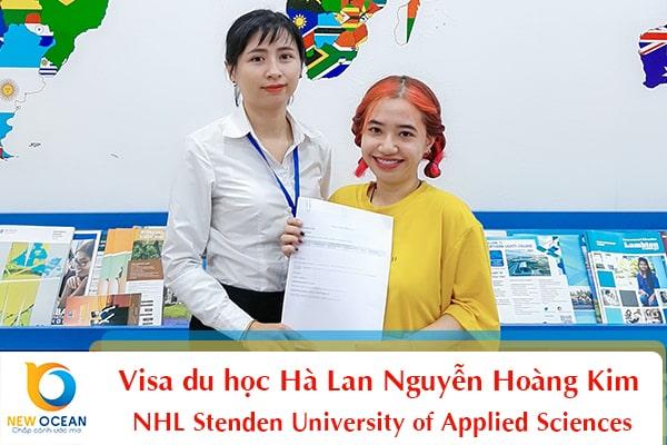 Bạn Nguyễn Hoàng Kim nhận visa Đại học NHL Stenden