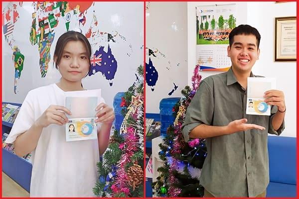 Tấm vé Visa du học Hà Lan kì nhập học T2/2020 dành cho Phùng Thị Ngọc Ánh và Nguyễn Hoàng Luân