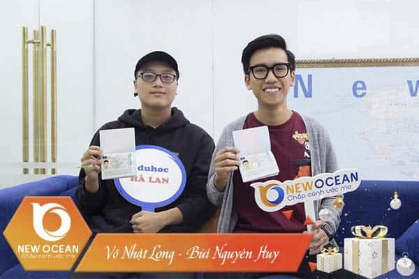 """""""Đôi bạn cùng tiến"""", Võ Nhật Long – Bùi Nguyên Huy du học Hà Lan kì nhập học T2/2020"""