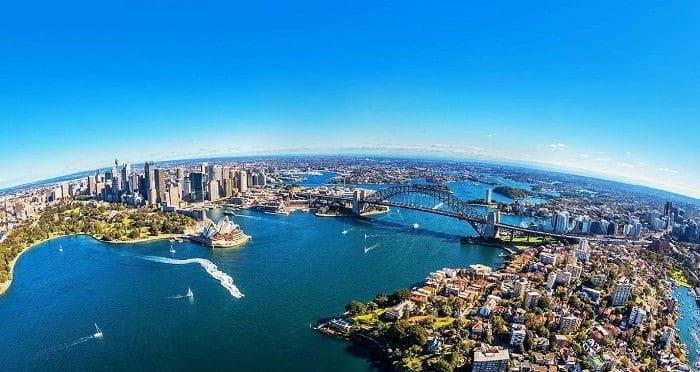 Quang cảnh thiên nhiên Châu Úc vô cùng tươi đẹp