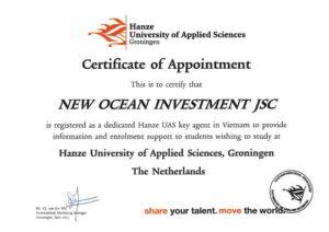 chung-chi-dai-dien-agent-dac-biet-do-Hanze-cap-cho-New_Ocean