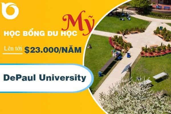 Học bổng lên tới $23.000/năm từ trường DePaul University dành cho du học sinh