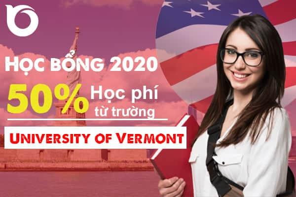 Cơ hội học bổng 2020 trường University of Vermont – Top 41 trường Công lập tốt nhất tại Mỹ