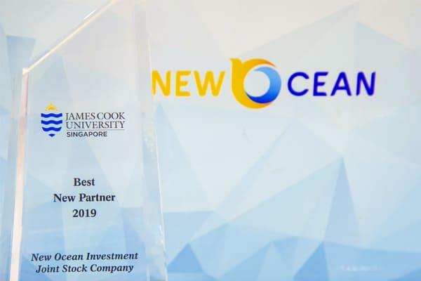 New Ocean nhận giải Best New Partner năm 2019 của Đại Học James Cook Singapore
