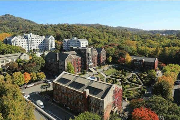 Trường Đại học Yonsei nhìn từ trên cao