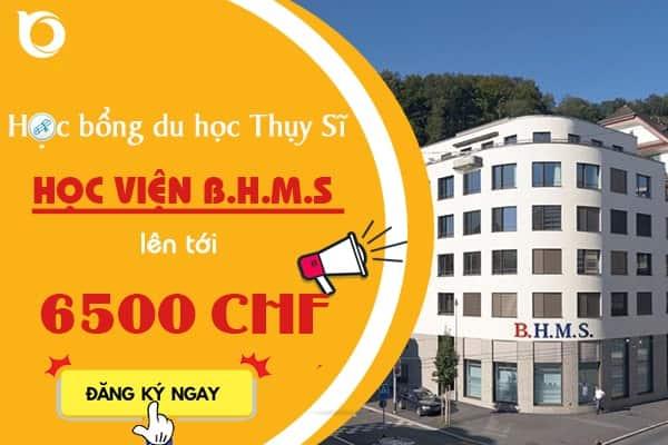 Học bổng du học Học viện BHMS
