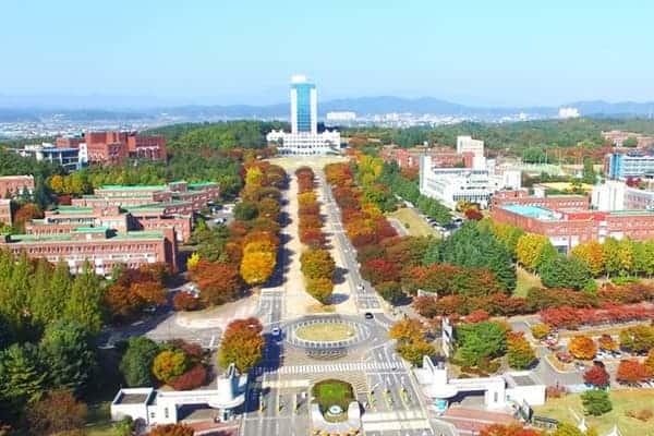 Khuôn viên của trường nhìn từ trên cao