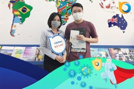 Nguyễn Đăng Khoa nhận Visa du học Hà Lan từ New Ocean