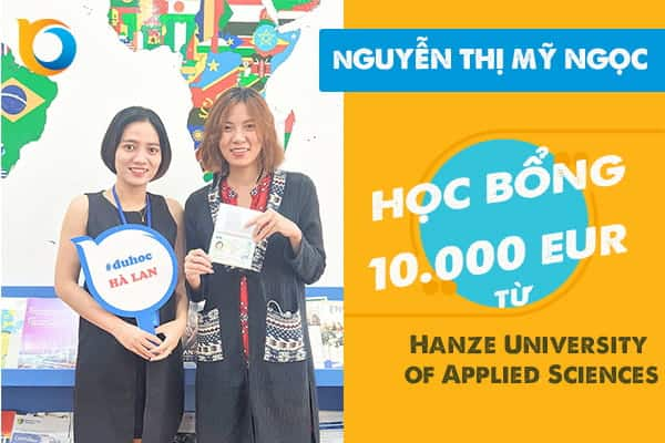 Combo học bổng và Visa du học Hà Lan dành cho Nguyễn Thị Mỹ Ngọc