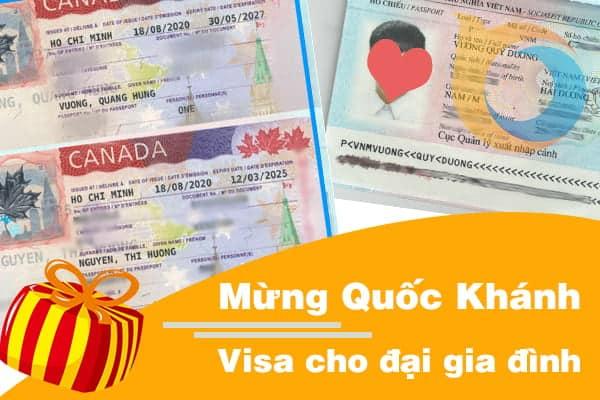 Mừng Quốc Khánh – Visa cho cả gia đình