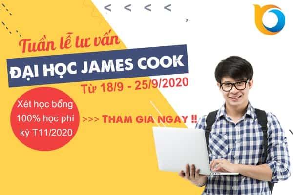 Tuần lễ tư vấn Đại học James Cook – Xét học bổng 100% học phí kì T11/2020 từ 18/9-25/9