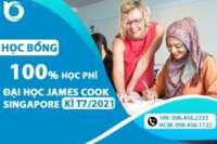 Học bổng 100% học phí trường James Cook Singapore kì T7/2021 chính thức mở đơn